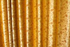 Gouden gordijn Royalty-vrije Stock Afbeeldingen