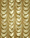 Gouden gordijnen stock illustratie