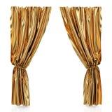 Gouden gordijnen royalty-vrije illustratie