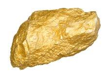 Gouden goudklompje Royalty-vrije Stock Afbeeldingen