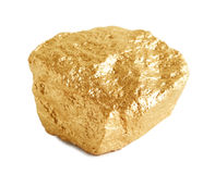 Gouden Goudklompje Stock Fotografie