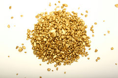 Gouden Goudklompjes Royalty-vrije Stock Foto's