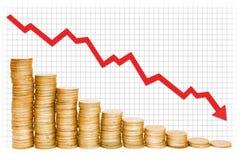 Gouden Grafiek Royalty-vrije Stock Foto