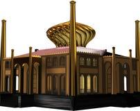 Gouden grafisch kasteel   stock illustratie