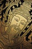 Gouden Gravure - Traditioneel Thais Art. Royalty-vrije Stock Foto's