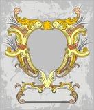 Gouden grens of frame   stock illustratie