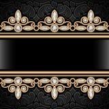 Gouden grenskader Royalty-vrije Stock Foto