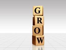 Gouden groei met bezinning Royalty-vrije Stock Afbeelding