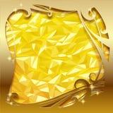 Gouden groetkaart Royalty-vrije Stock Afbeelding
