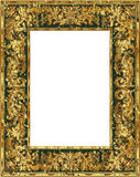 Gouden grungeframe Stock Afbeelding