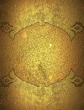 Gouden grungekader Element voor ontwerp Malplaatje voor ontwerp exemplaarruimte voor advertentiebrochure of aankondigingsuitnodig Stock Foto