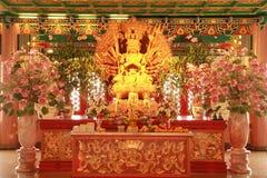 Gouden Guan Yin Royalty-vrije Stock Foto's