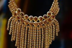 Gouden halsband royalty-vrije stock foto