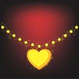 Gouden halsband op donkere achtergrond stock illustratie