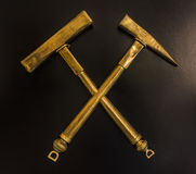 Gouden hamers Royalty-vrije Stock Afbeelding