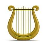 Gouden harp Royalty-vrije Stock Foto's