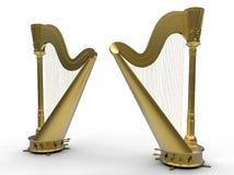 Gouden Harpen royalty-vrije illustratie