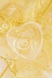 Gouden hart royalty-vrije stock foto