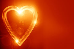 Gouden hart Stock Fotografie