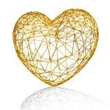 Gouden hart als kooi. vector illustratie
