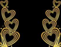 Gouden hartachtergrond Stock Foto's