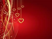 Gouden harten Royalty-vrije Stock Afbeelding