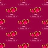 Gouden hartenvector als achtergrond royalty-vrije illustratie