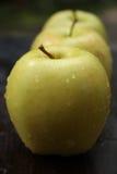 Gouden - heerlijke appelen Royalty-vrije Stock Afbeeldingen