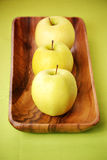 Gouden - heerlijke appelen Stock Afbeelding