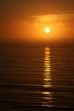 Gouden het gloeien zonsondergang Stock Afbeelding