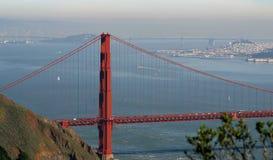 Gouden het noordentoren van de poortbrug stock foto's