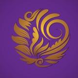 Gouden het ornamentvector van de cirkel Stock Foto