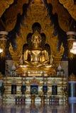 Gouden is het standbeeld van Boedha in Meditate van de tempelagent van Thailand van Boedha stock afbeeldingen
