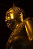 Gouden het standbeeldbeeld van Boedha van praphutasinsri Royalty-vrije Stock Fotografie