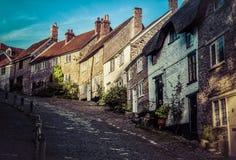 Gouden Heuvel Shaftsbury Engeland Royalty-vrije Stock Foto