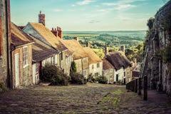 Gouden Heuvel Shaftsbury Engeland Stock Fotografie