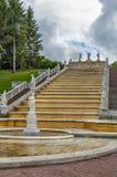 Gouden Heuvelcascade, Peterhof, Rusland Royalty-vrije Stock Afbeelding
