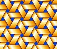 Gouden Hexagonaal Mandewerk Stock Afbeelding