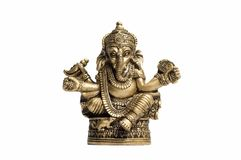 Gouden Hindoese God Ganesh Stock Foto's