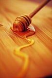 Gouden honingsmacro Royalty-vrije Stock Afbeelding