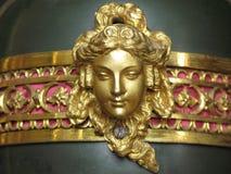 Gouden hoofd van de vrouw Stock Afbeeldingen