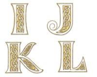Gouden Hoofdletters 3 royalty-vrije illustratie