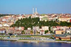 Gouden Hoorn en Sutluce-gebied, Istanboel Stock Fotografie