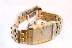 Gouden horloge Royalty-vrije Stock Foto's