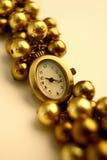 Gouden Horloge Royalty-vrije Stock Foto