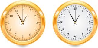 Gouden horloge Royalty-vrije Stock Afbeeldingen