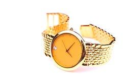 Gouden horloge Stock Foto