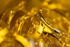 Gouden horlogekasten Stock Foto's