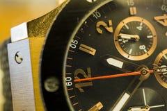 Gouden horlogemacro Royalty-vrije Stock Fotografie