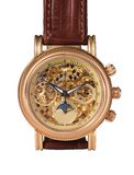 Gouden horlogemechanisme Stock Foto's